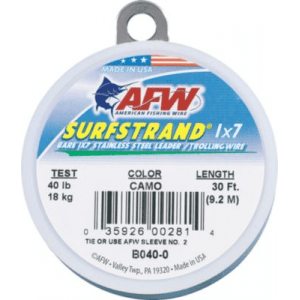 American Fishing Wire SurfStrand Uncoated Wire - Camo