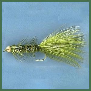 Cabela's Gold Bead Olive Woolly Buggers - Per Dozen