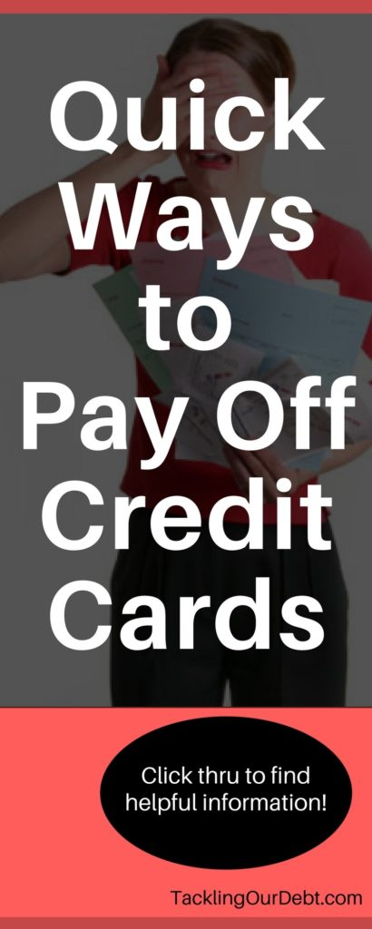 5 Ways to Pay Off Credit Card Debt Tackling Our Debt - how to pay off credit card