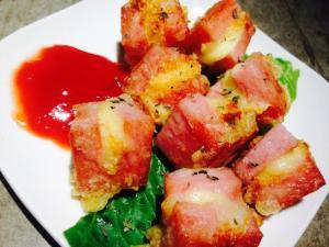6Junチーズ入りスパムの天ぷら