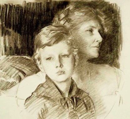 1924 Charlotte Nichols Greene and her Son Stephen