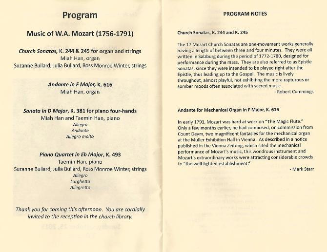 All-Mozart Concert-Program