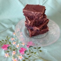 fudge-topped chewy brownies