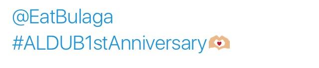 ALDUB1stAnniversary Twitter Emoji