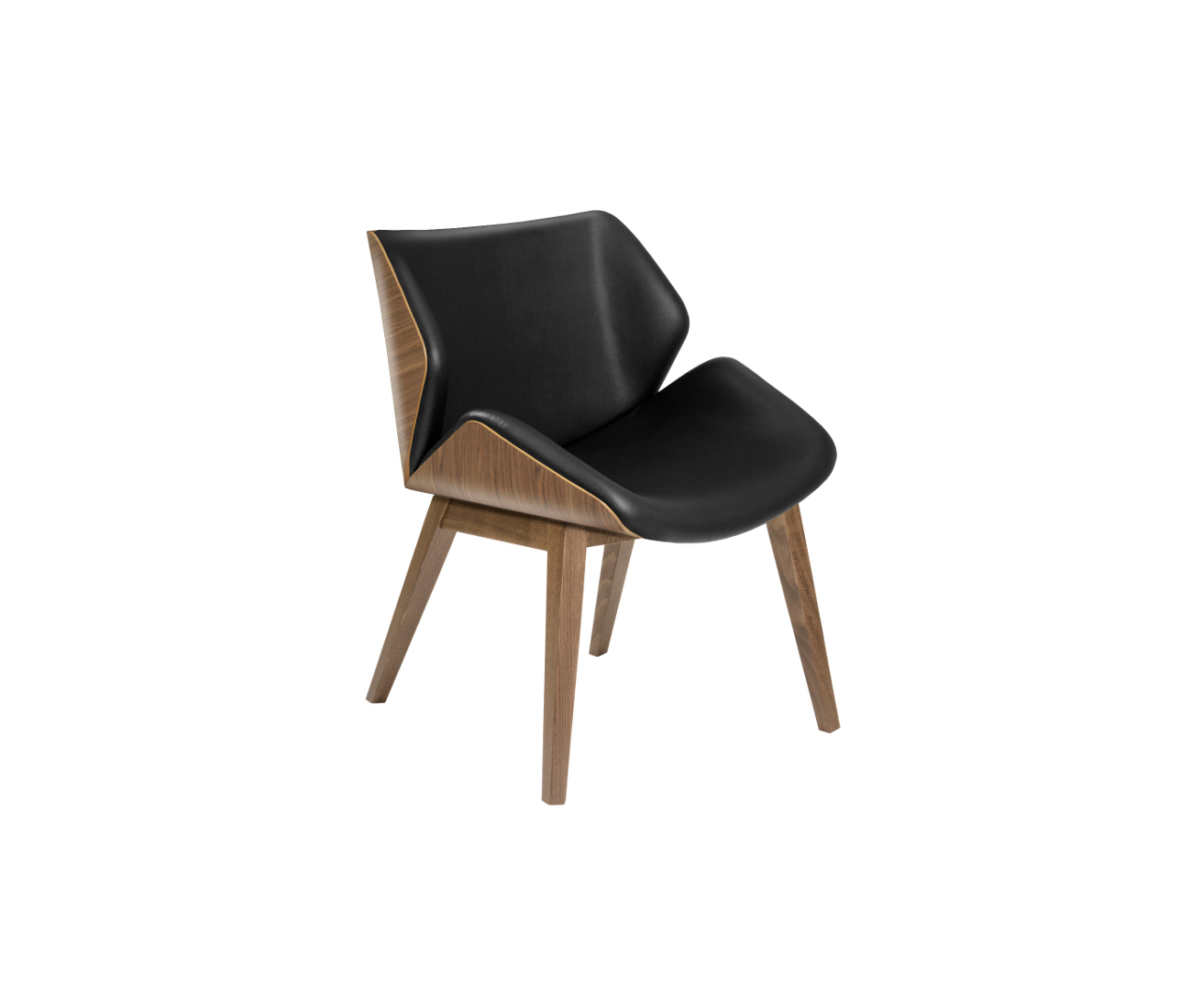 High Back Lounge Breakout Chair Selection Of Finishes - Leather High Back Lounge Chair