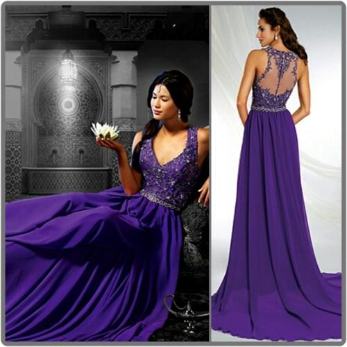 Medium Of Purple Wedding Dresses