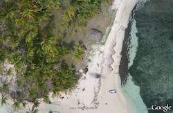 Kite Aerial photos in Google Earth of BBQ Island