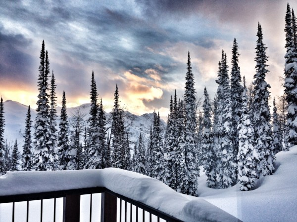 powder creek lodge sunset views