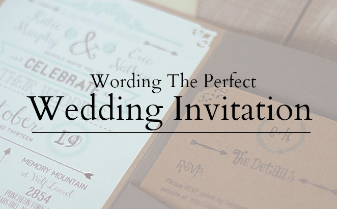 Wedding Invitation Wording - Word the perfect wedding invite - invitations in word