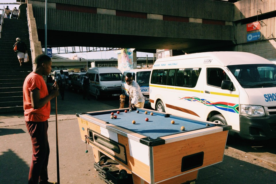 Pool on the street in Durban