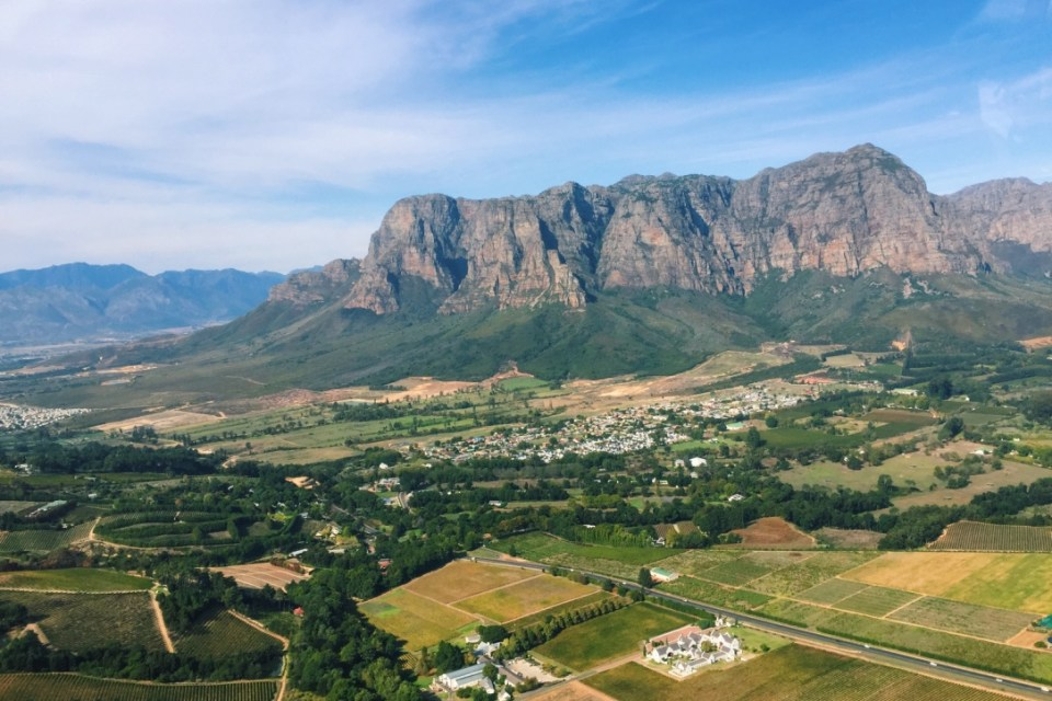 Stellenbosch from the sky
