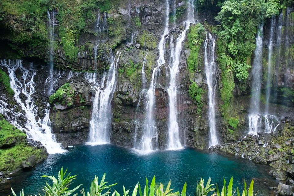 riviere langevin waterfall reunion island