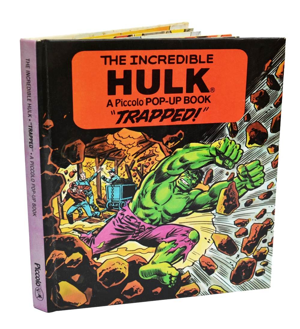 Pop Up Book Cover The Incredible Hulk Trapped Pop Up Book By Piccolo 1982