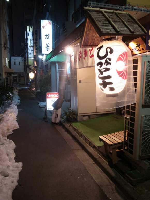 人形町のおすすめ居酒屋「やきとん ひょっとこ」豚のレバ刺しが食べられる店 (2)