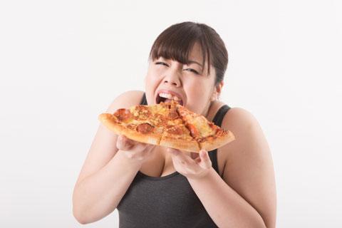 食べ過ぎの人