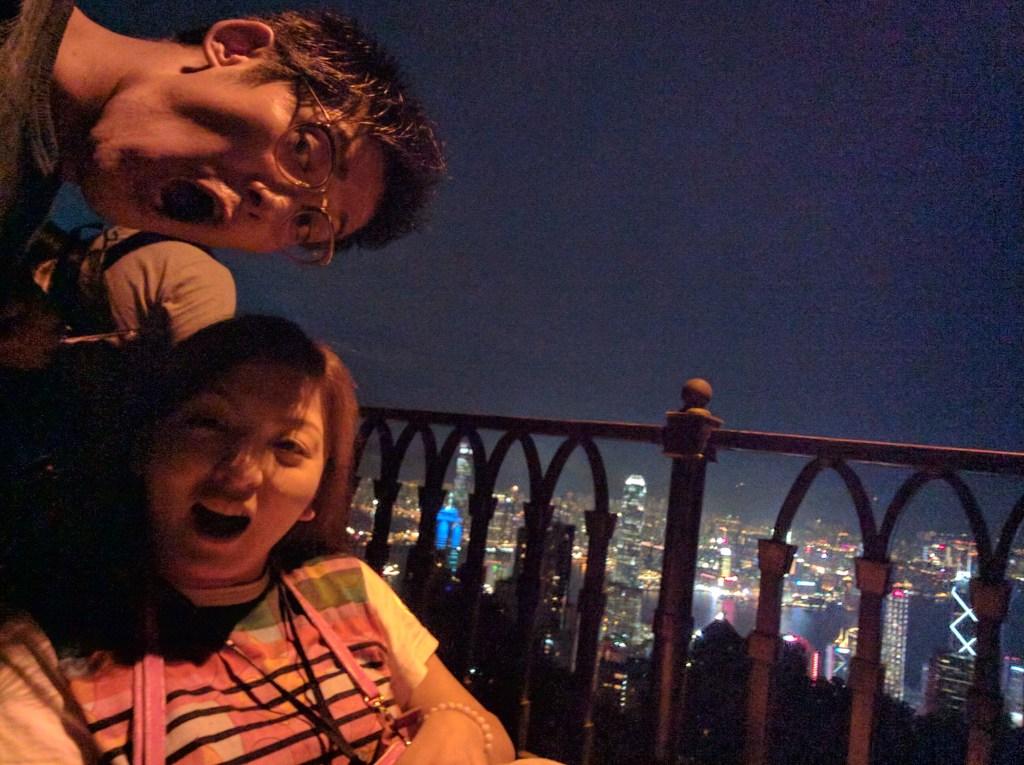 香港夜景車いす