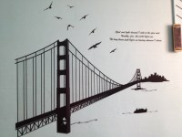 Golden gate bridge wall decals | Lyla's