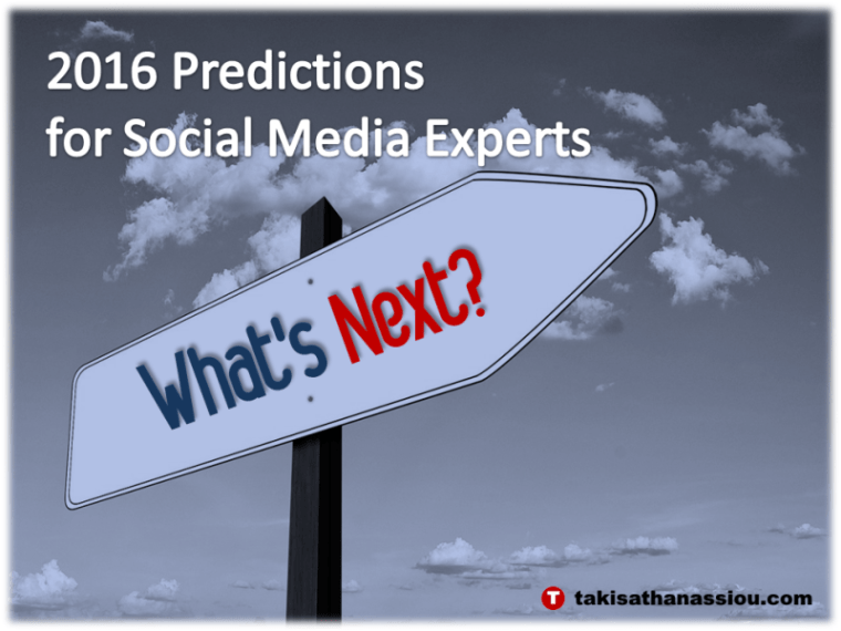 2016 Predictions for Social Media Experts