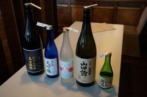 利き酒に使われたのが、この5種類のお酒