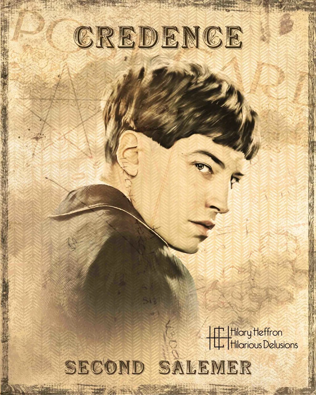 Credence Vintage Credence Barebone Book Page By Hilary Heffron