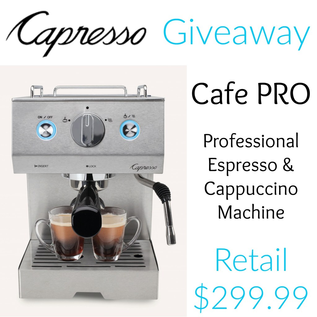 cafe pro espresso machine giveaway 5 8 tales from a. Black Bedroom Furniture Sets. Home Design Ideas