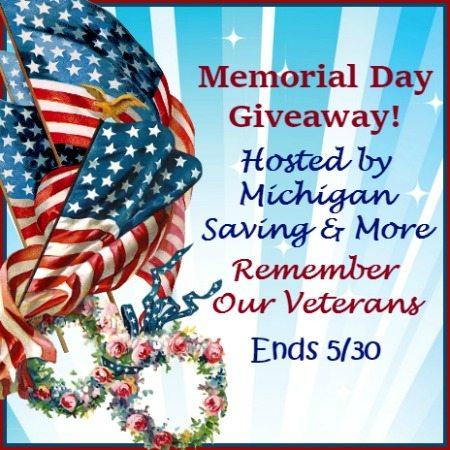 Memorial Day Giveaway 5/30