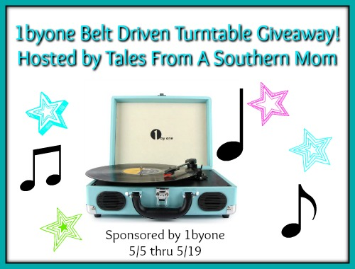 1byone Belt Driven Turntable Giveaway 5/19