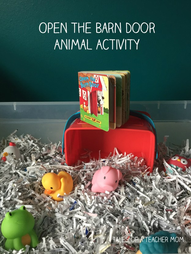 Open the Barn Door Animal Activity - a great reading activity for a one year old