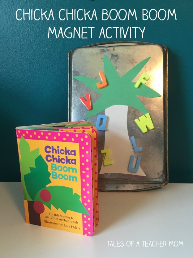 chicka chicka boom boom magnet activity
