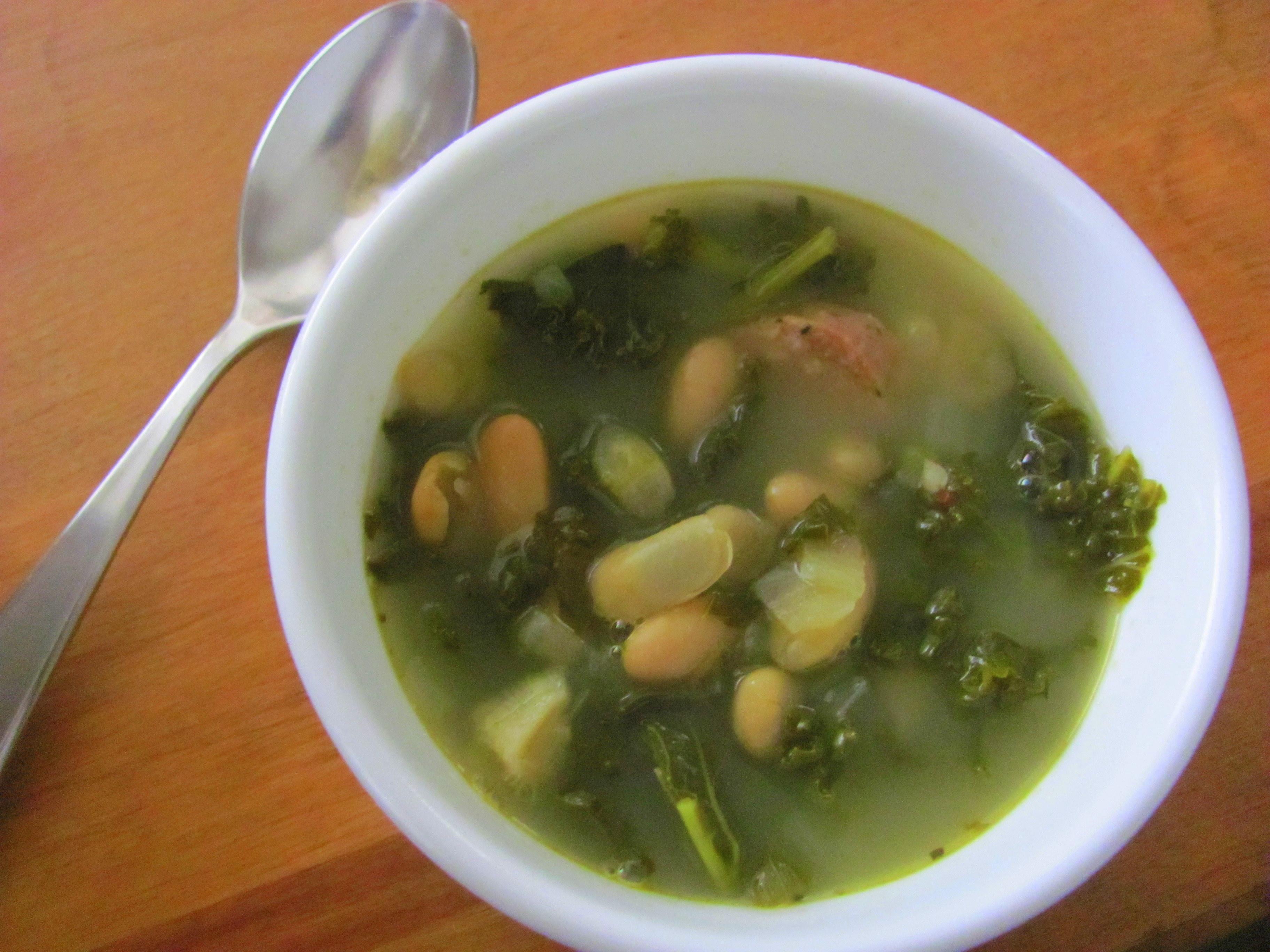 Turkey Sausage, White Bean and Kale Soup - Dr. Talia ...