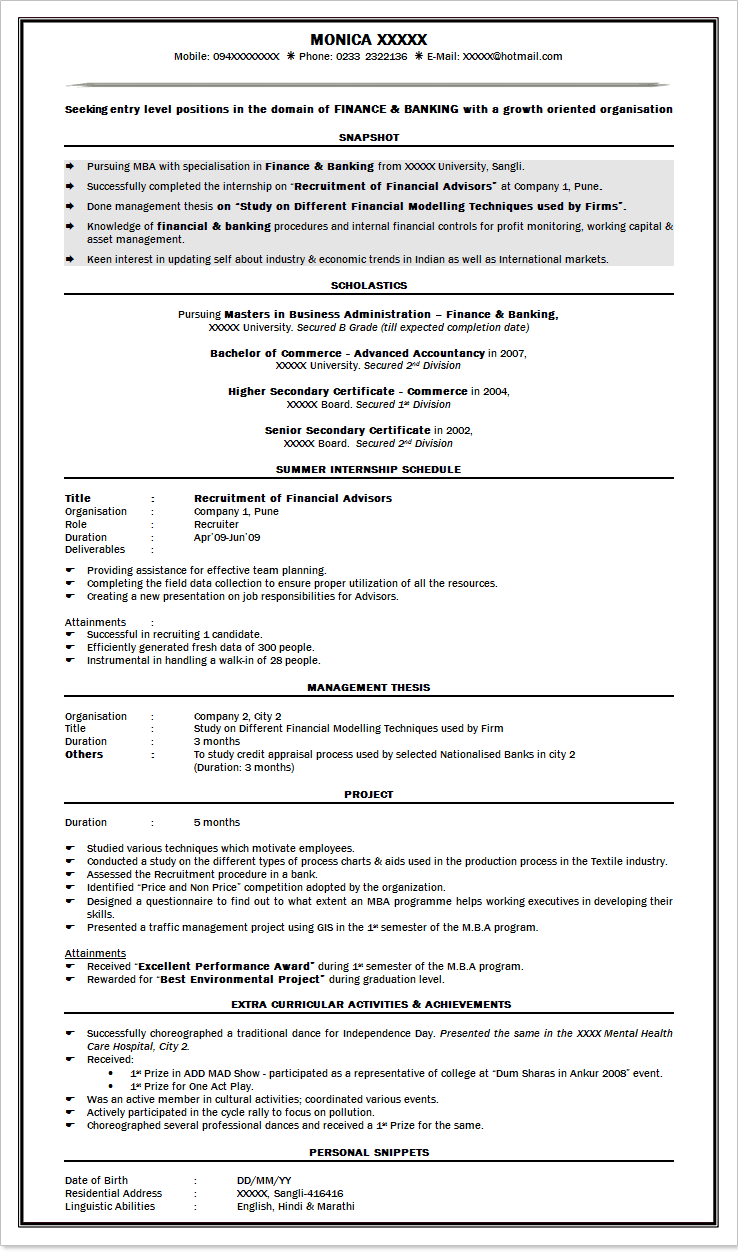 cv sample best resume and all letter cv cv sample best cv format for bank job in