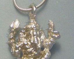 colgante Ganesha elefante dios hindu de plata