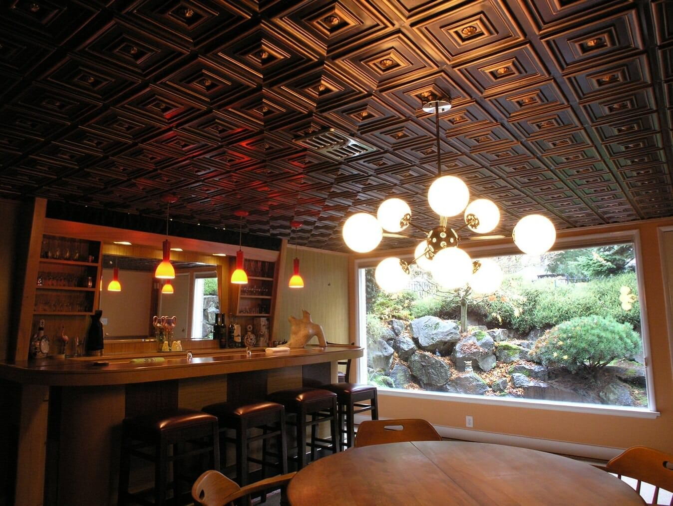 Ceiling Design Online An Easy Solution For Complete Ceiling Makeover Faux Tin Ceiling Tiles
