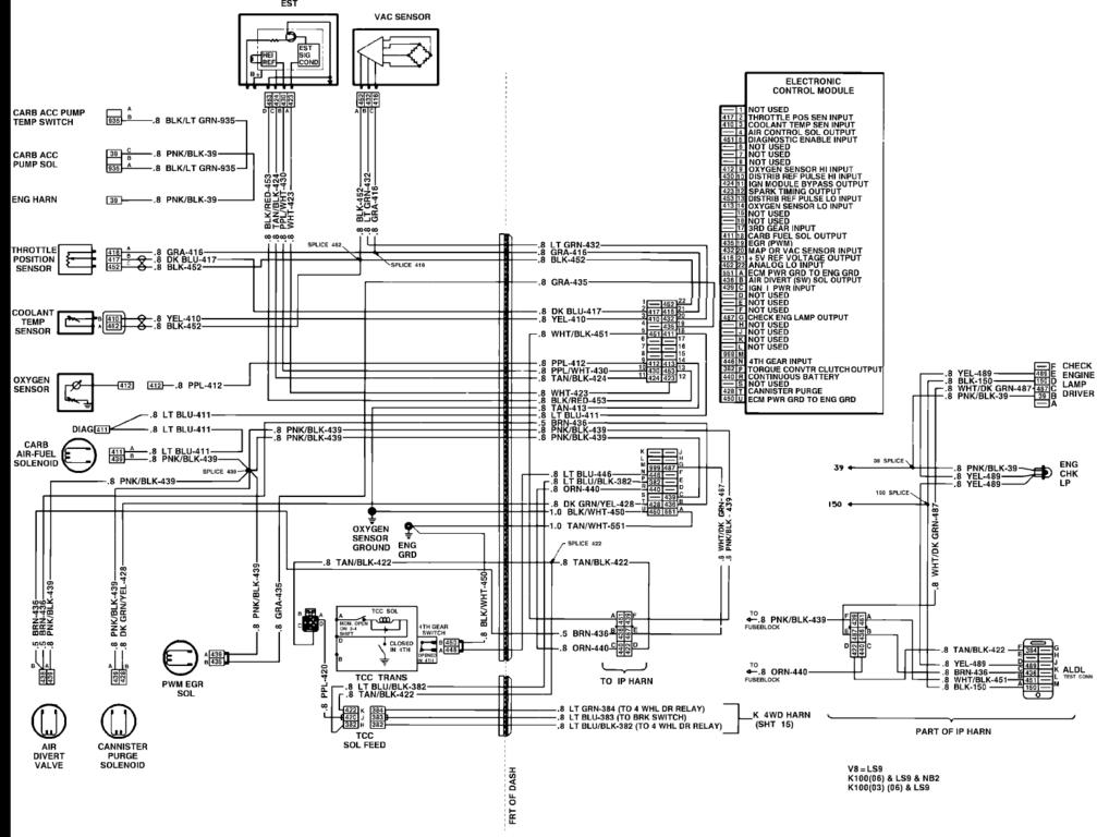 1986 chevy k10 wiring diagram of truck