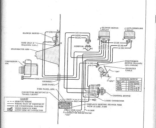 1969 camaro blower motor wiring diagram