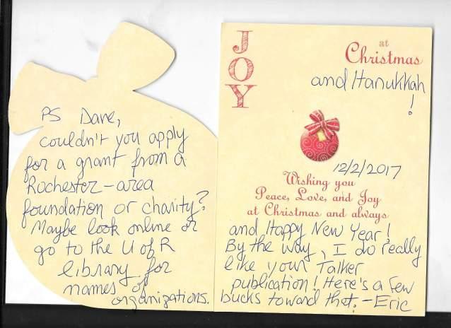 Eric's card