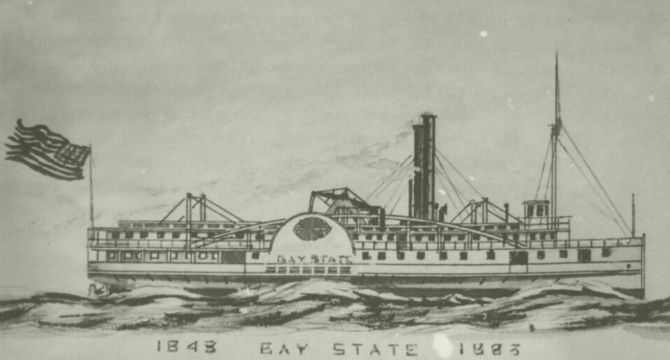 The Bay State - President Taylor's steamboat