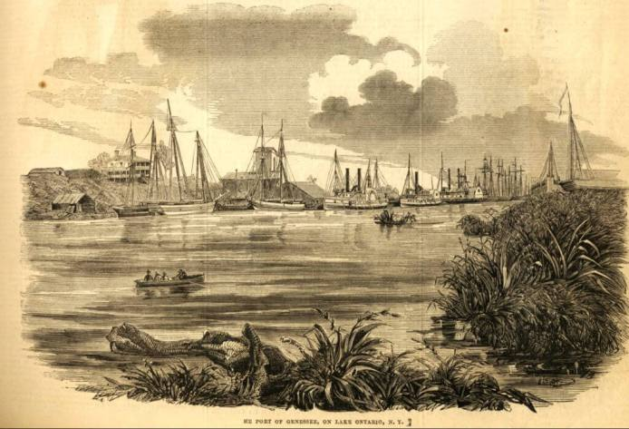 e Port of Rochester in 1851