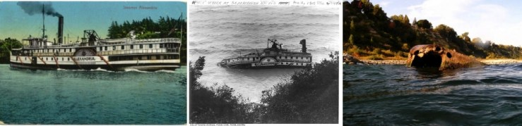 The Alexandria ran the St. Lawrence rapids to go from Charlotte down the river to Quebec between 1909 and 1912