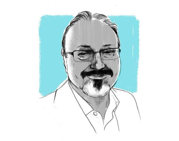 Jamal Khashoggi-Illustration by Alex-Fine for The Washington-Post