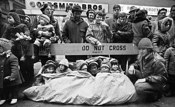 A snug scene at the 1971 parade. Don Hogan Charles