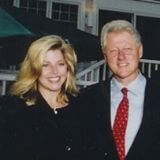 Susan with President Bill Clinton, early 2000's. From