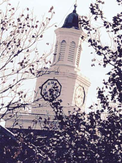 'When the little hand is on the ... ' Brighton HS clock tower on a late Fall morning