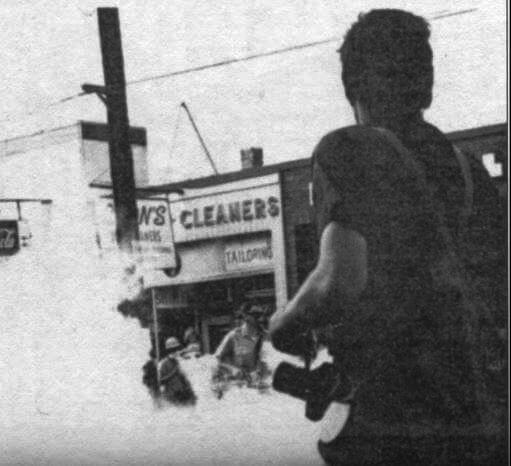 Tear Gas on Marshall Street - Sept. 26, 1970 newspaper photo
