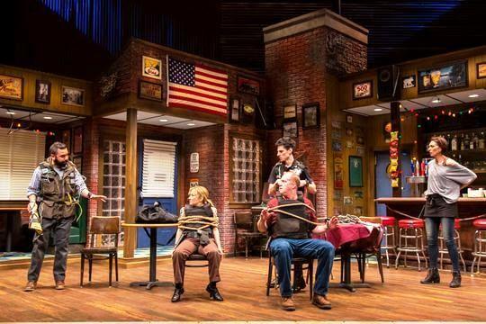 Nuah Ozreyl, Jennifer Cody, Patrick Noonan, Sean Patrick Doyle and Vanessa Morosco in Geva Theatre Center's 'Hard Cell.' (Photo: Goat Factory Media Entertainment)