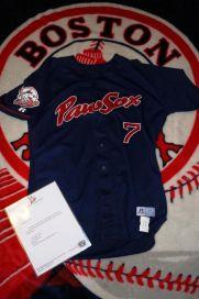 2005 Pawtucket Red Sox Game Worn Dustin Pedroia Jersey Used Team COA Boston