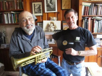 Kurt (right) and Eugene with his trumpet, gift from father, Louis, @1945 5/17/16