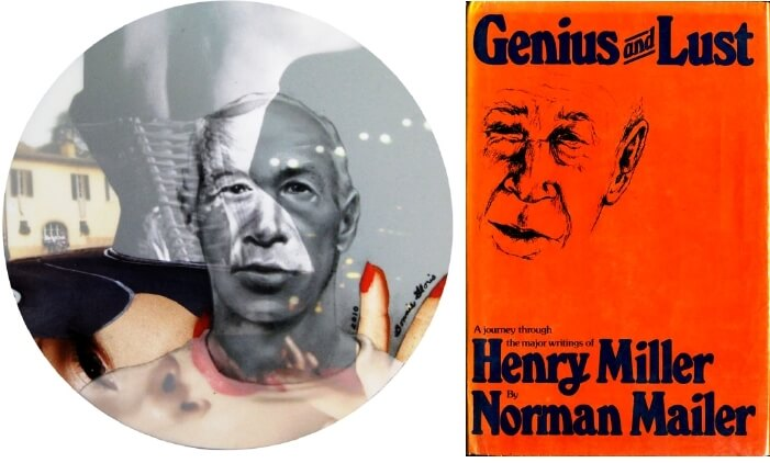 (left) Heny Miller (right) Genius and Lust: A Journey Through the Major Writings of Henry Miller (1976) by Norman Mailer. Held at and scan courtesy of the Rochester Public Library. From