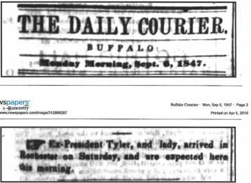 Buffalo Courier, September 6th, 1847 (newspapers.com)