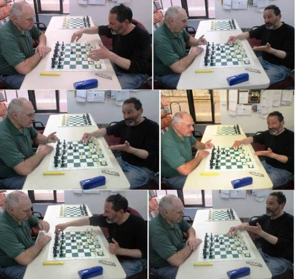 (l-r) Ron Lohrman and David Kramer, Rochester Chess Center, Rochester, NY 14610, 4/15/19